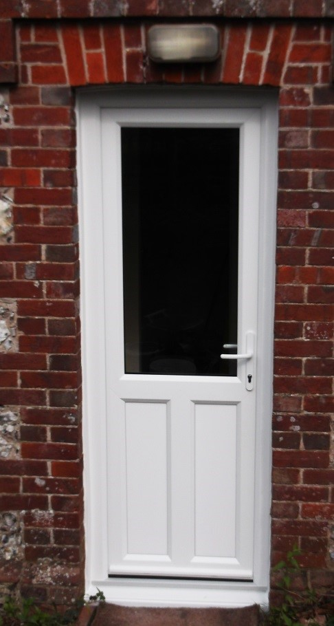 Back Doors With Windows : Pvcu diamond lead windows and back door fitted in east