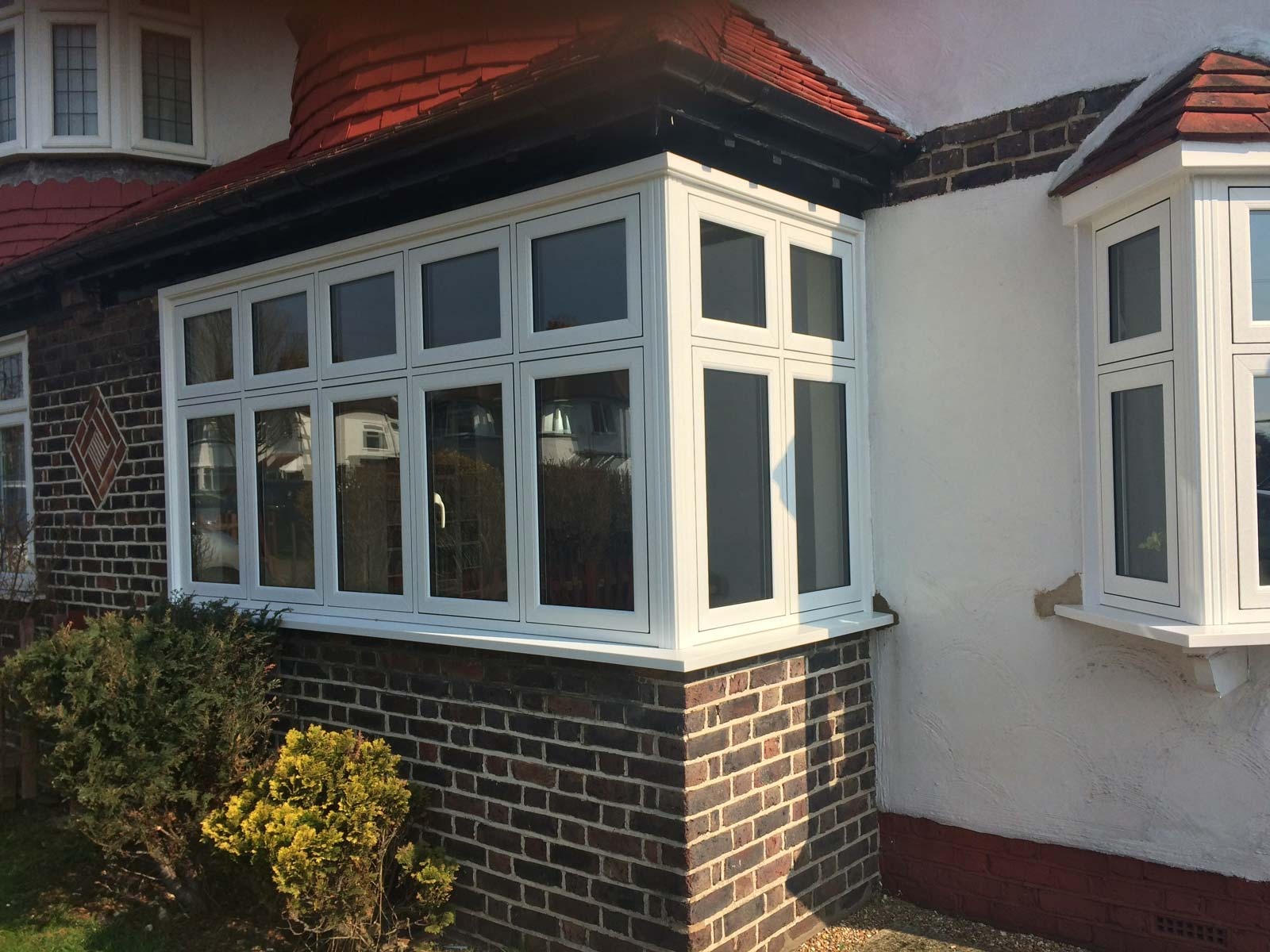FlushSash PVCu windows in Whitegrain