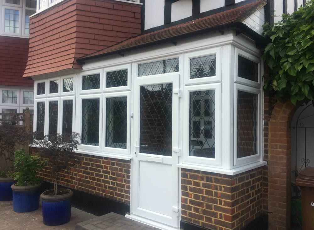 New bay window and porch installed in morden sci windows for The new window company