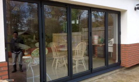 Coloured bi-fold doors
