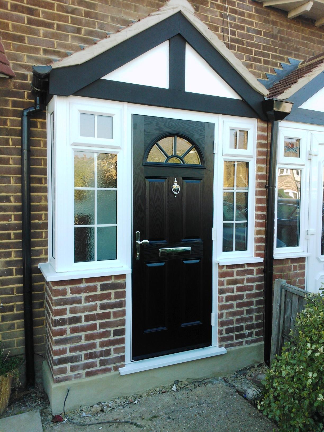 Black Composite Door And Porch Sci Windows