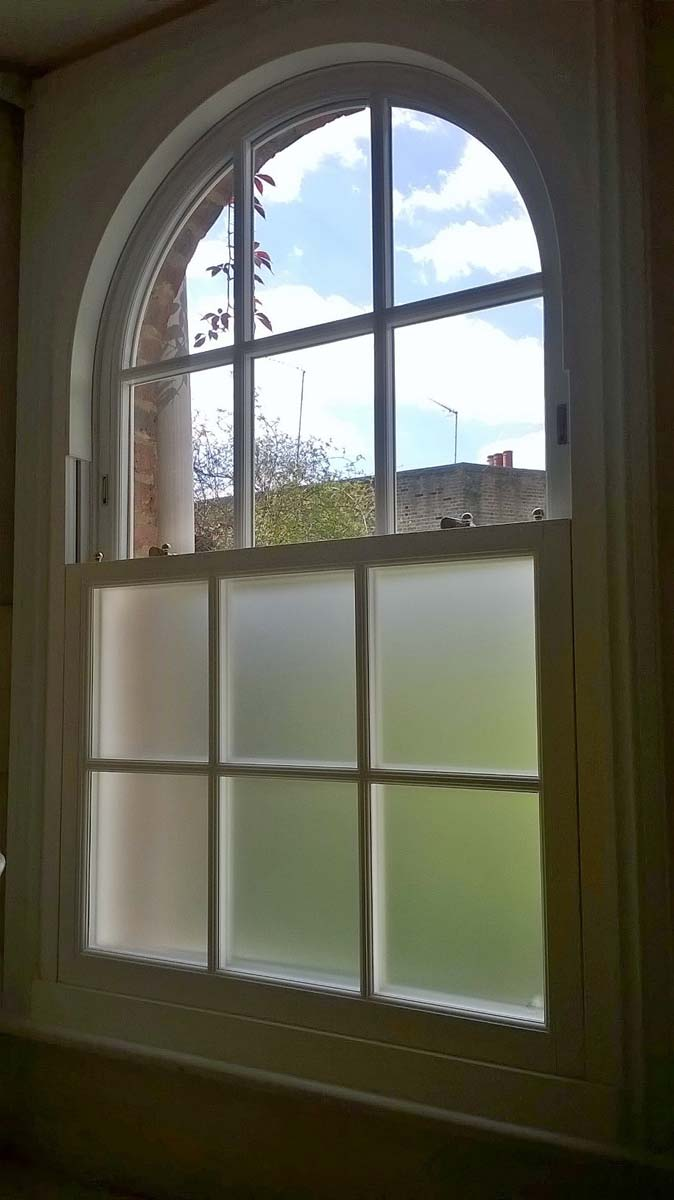 Central London Arched Window Installation Sci Windows