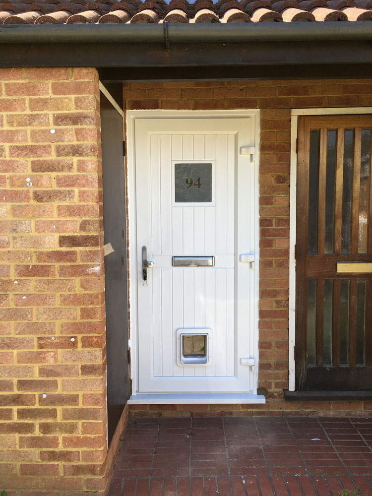 New PVCu Front Door in South West London | Install by SCI Windows