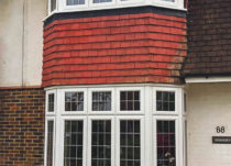 Square Lead Grids in Slim Sash Windows