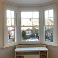 White Woodgrain Sash Windows