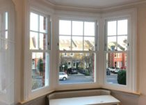White Woodgrain Sash Windows