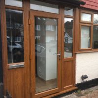 Oak Finish Porch