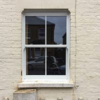 White Heritage Rose PVCu Sash Windows